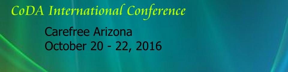 2016 CoDA Conference  October 20-22   Carefree, AZ